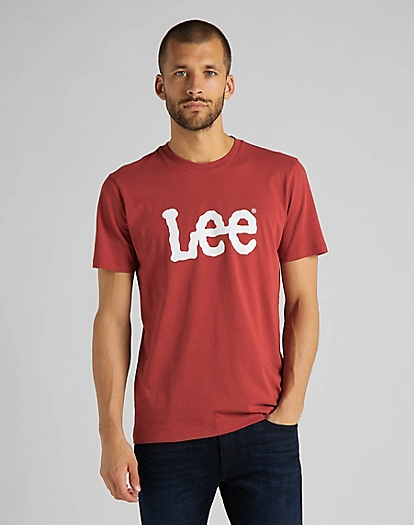 Wobbly Logo Tee in Red Ochre