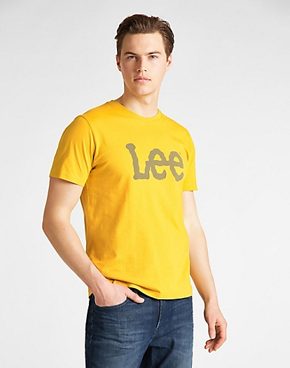 Wobbly Logo Tee in Golden Yellow
