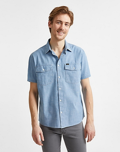 Chetopa Shirt Short Sleeve in Summer Blue