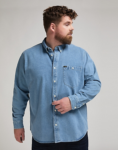 Riveted Shirt in Faded Blue