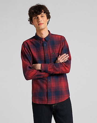 Riveted Shirt in Red Ochre