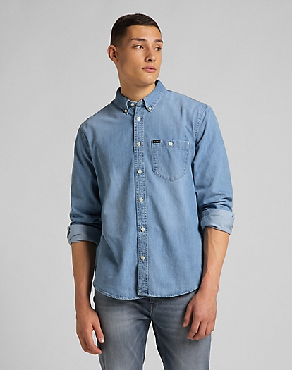 Riveted Shirt in Frost Blue