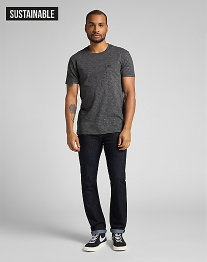 Ultimate Pocket Tee in Dark Grey Mele