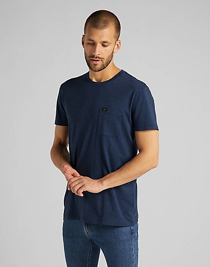 Ultimate Pocket Tee in Sky Captain