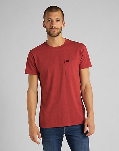 Ultimate Pocket Tee in Red Ochre