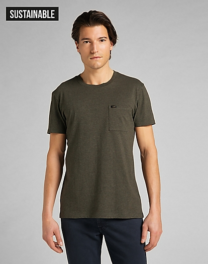 Ultimate Pocket Tee in Serpico Green