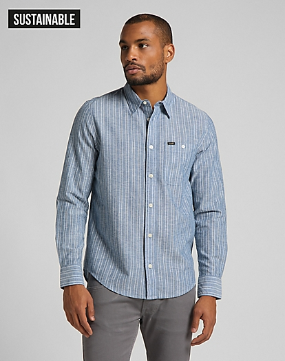 Leesure Shirt in Washed Blue