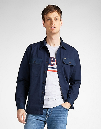 2 Pocket Overshirt in Navy