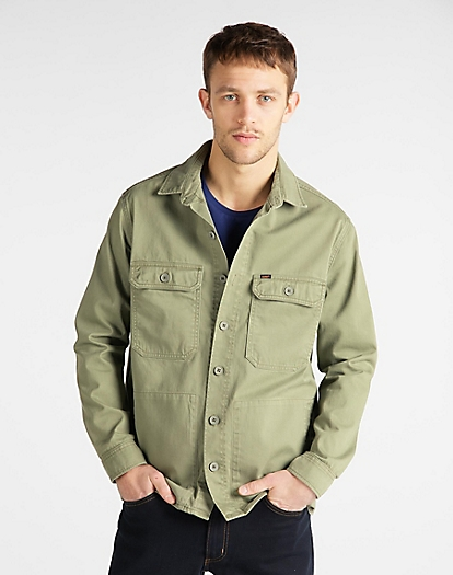 Workwear Overshirt in Lichen Green