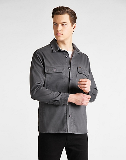 Workwear Overshirt in Steel Grey
