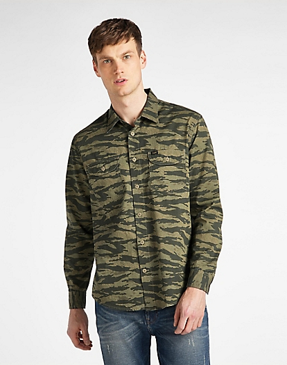 Worker Shirt in Utility Green