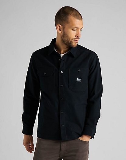 Box Pocket Overshirt in Black