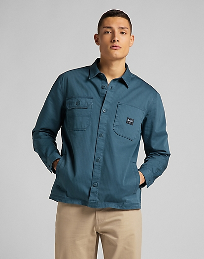 Box Pocket Overshirt in Teal