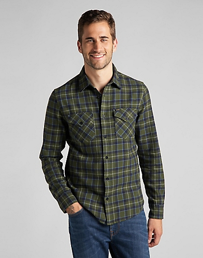 Regular Shirt in Winter Green