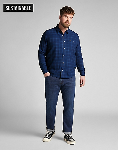 Daren Zip Fly Low Stretch in Dark Bluegrass