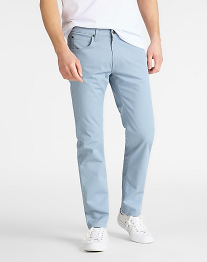 Daren Zip Fly Non Denim in Ashley Blue