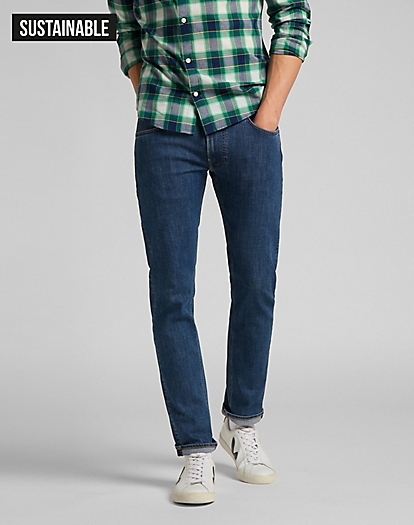 Daren Zip Fly Medium Stretch in Mid Stone Wash