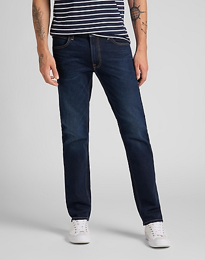 Daren Zip Fly Low Stretch in Dark Sidney