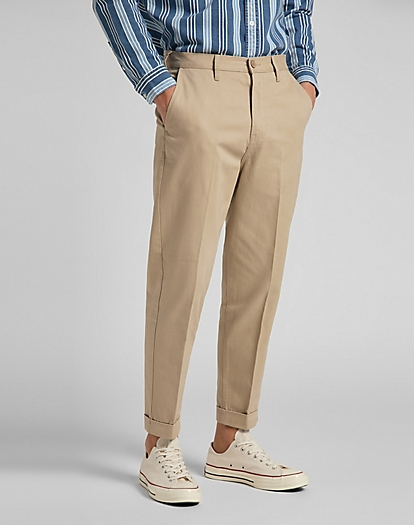Tapered Chino in Service Sand