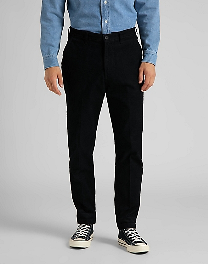 Tapered Chino Corduroy in Black