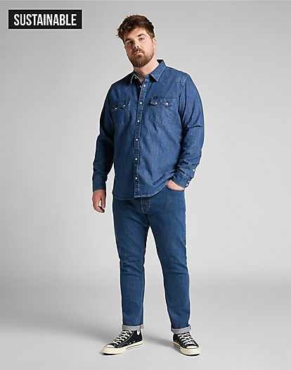 Luke Medium Stretch in Mid Stone Wash