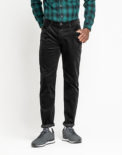 Corduroy Austin in Black