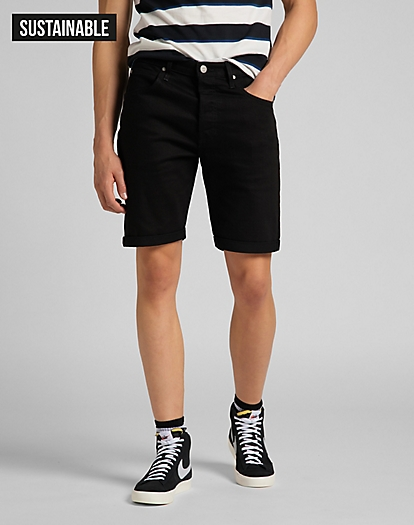5 Pocket Short in Clean Black