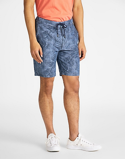 Drawstring Short in Washed Blue
