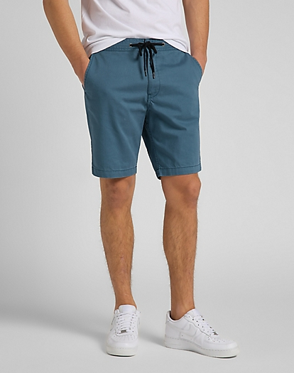 Drawstring Short in Indian Teal