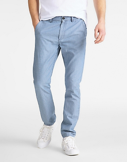 Slim Chino in Washed Stripe