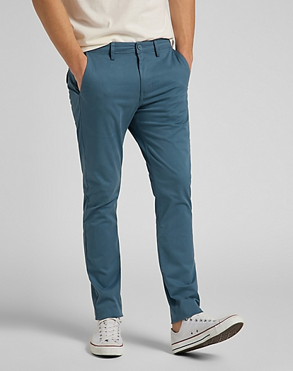 Slim Chino in Indian Teal