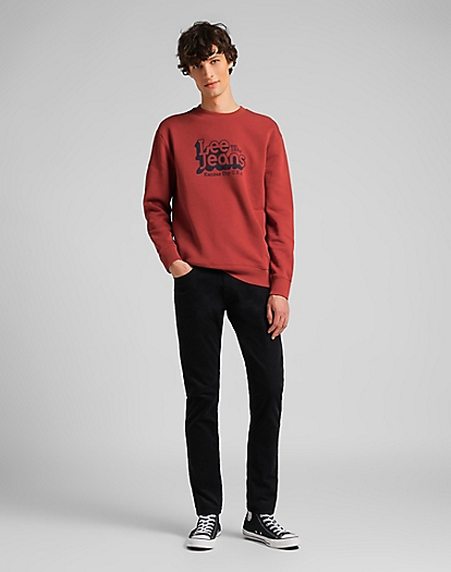 70's Logo Sweatshirt in Red Ochre