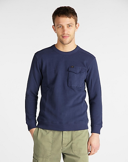 Military Pocket Sweatshirt in Dark Navy