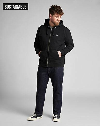 Basic Zip Throuh Hoody in Black