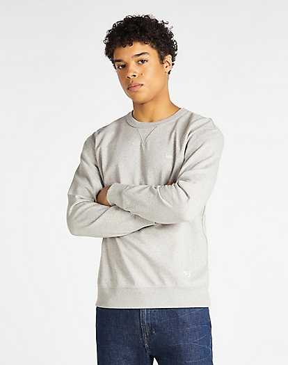 Sustainable Crew Sweatshirt in Grey Mele