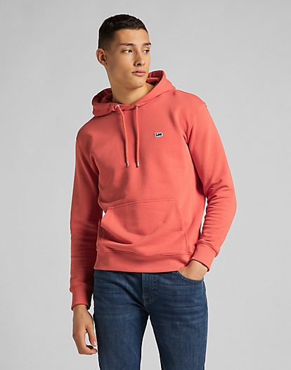 Plain Hoodie in Washed Red