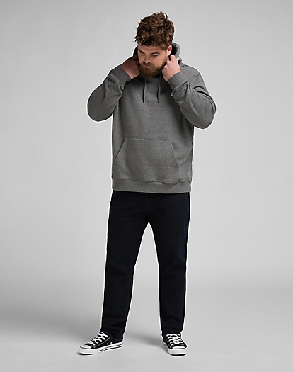 Plain Hoodie in Dark Grey Mele