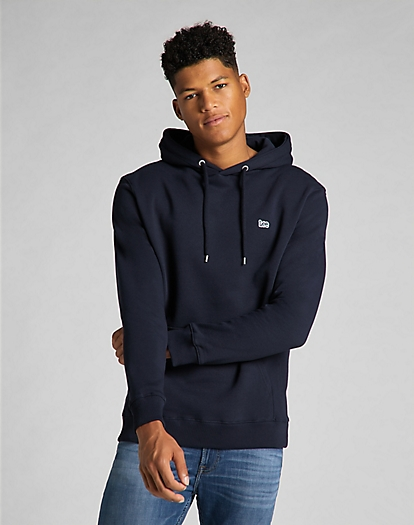 Plain Hoodie in Midnight Navy