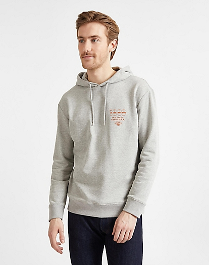 Seasonal Logo Hoodie in Grey Mele