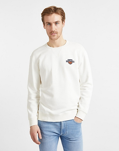 Seasonal Logo Sweatshirt in White Canvas