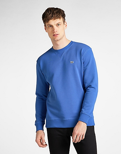 Plain Crew Sweatshirt in Summer Blue