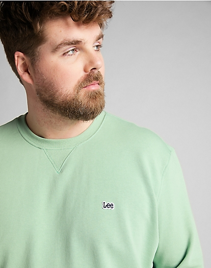 Plain Crew Sweatshirt in Granite Green