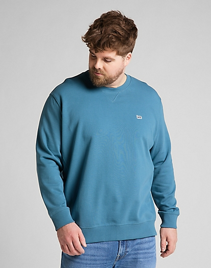 Plain Crew Sweatshirt in Teal