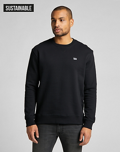 Plain Crew Sweatshirt in Black