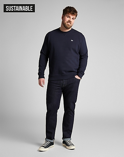 Plain Crew Sweatshirt in Midnight Navy