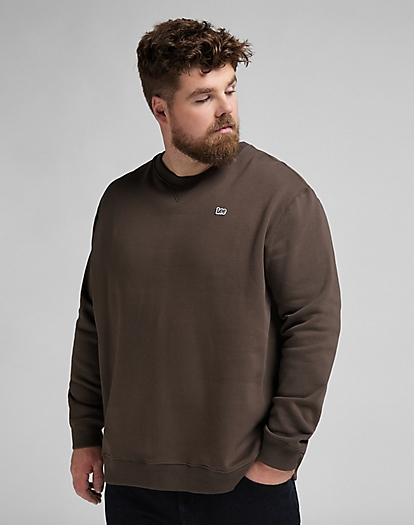 Plain Crew Sweatshirt in Turkish Coffee