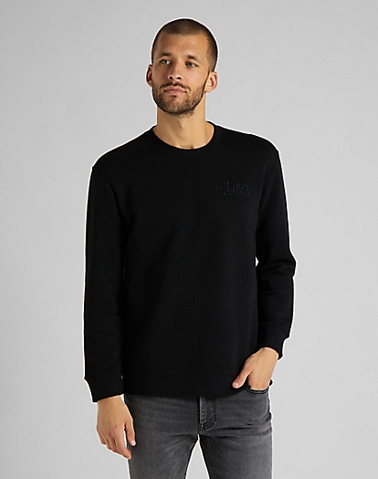 Refined Applique Sweatshirt in Black
