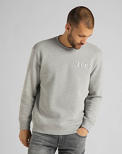 Refined Applique Sweatshirt in Grey Mele