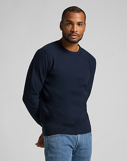 Basic Crew Knit in Navy