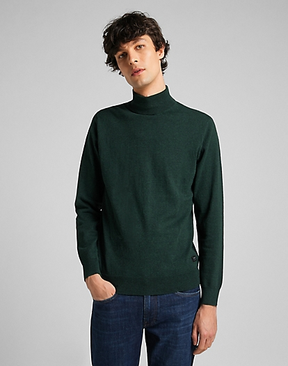 High Neck Knit in Pine